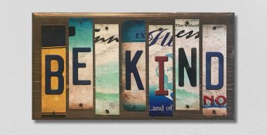 Be Kind License Plate Strip Novelty Wood Sign WS-048