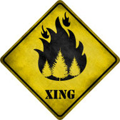 Forest Fire Xing Novelty Crossing Sign CX-318