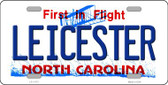 Leicester North Carolina State Novelty License Plate LP-11773