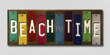 Beach Time Fun Strips Novelty Wood Sign WS-132