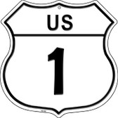 US Highway 1 Novelty Highway Shield HS-562