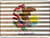 Illinois Flag Novelty Parking Sign P-2327
