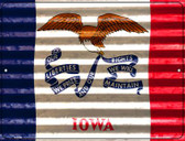 Iowa Flag Novelty Parking Sign P-2329