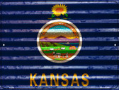 Kansas Flag Novelty Parking Sign P-2330