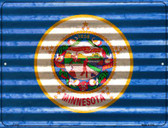 Minnesota Flag Novelty Parking Sign P-2337