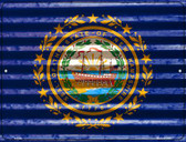 New Hampshire Flag Novelty Parking Sign P-2343
