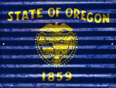 Oregon Flag Novelty Parking Sign P-2351