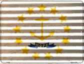 Rhode Island Flag Novelty Parking Sign P-2353