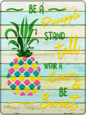 Be A Pineapple Novelty Parking Sign P-2365