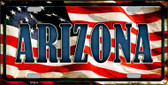 Arizona Metal Novelty License Plate