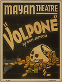 Volpone Mayan Theatre Vintage Poster Parking Sign P-1919