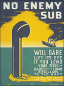 No Enemy Sub Vintage Poster Parking Sign P-1941