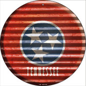 Tennessee Flag Corrugated Effect Novelty Circular Sign C-952