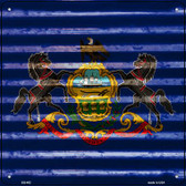 Pennsylvania Flag Corrugated Effect Novelty Square Sign SQ-462