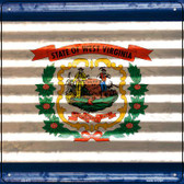 West Virginia Flag Corrugated Effect Novelty Square Sign SQ-472