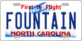 Fountain North Carolina Novelty License Plate LP-11861