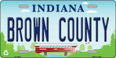 Brown County Indiana Novelty License Plate LP-11875