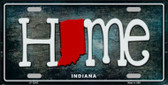 Indiana Home State Outline Novelty License Plate LP-12005