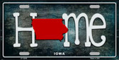 Iowa Home State Outline Novelty License Plate LP-12006
