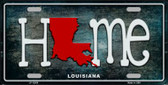 Louisiana Home State Outline Novelty License Plate LP-12009