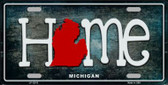 Michigan Home State Outline Novelty License Plate LP-12013