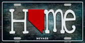 Nevada Home State Outline Novelty License Plate LP-12019