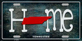Tennessee Home State Outline Novelty License Plate LP-12033