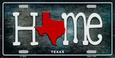 Texas Home State Outline Novelty License Plate LP-12034