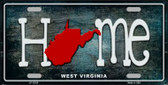 West Virginia Home State Outline Novelty License Plate LP-12039