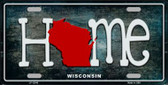 Wisconsin Home State Outline Novelty License Plate LP-12040