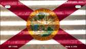 Florida Corrugated Flag Novelty Motorcycle Plate MP-11950