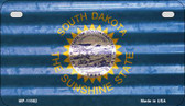 South Dakota Corrugated Flag Novelty Motorcycle Plate MP-11982