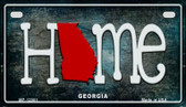 Georgia Home State Outline Novelty Motorcycle Plate MP-12001
