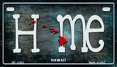 Hawaii Home State Outline Novelty Motorcycle Plate MP-12002