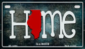 Illinois Home State Outline Novelty Motorcycle Plate MP-12004