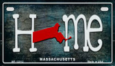 Massachusetts Home State Outline Novelty Motorcycle Plate MP-12012