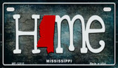 Mississippi Home State Outline Novelty Motorcycle Plate MP-12015