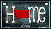 Montana Home State Outline Novelty Motorcycle Plate MP-12017