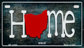 Ohio Home State Outline Novelty Motorcycle Plate MP-12026