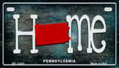 Pennsylvania Home State Outline Novelty Motorcycle Plate MP-12029