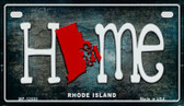 Rhode Island Home State Outline Novelty Motorcycle Plate MP-12030