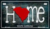 South Carolina Home State Outline Novelty Motorcycle Plate MP-12031