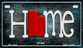 Utah Home State Outline Novelty Motorcycle Plate MP-12035