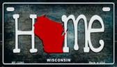 Wisconsin Home State Outline Novelty Motorcycle Plate MP-12040
