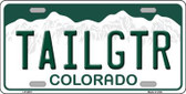 Tailgtr Colorado Novelty Metal License Plate