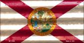 Florida Corrugated Flag Novelty Bicycle Plate BP-11950