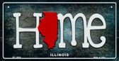 Illinois Home State Outline Novelty Bicycle Plate BP-12004