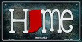 Indiana Home State Outline Novelty Bicycle Plate BP-12005