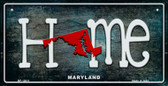 Maryland Home State Outline Novelty Bicycle Plate BP-12011