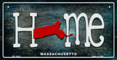 Massachusetts Home State Outline Novelty Bicycle Plate BP-12012